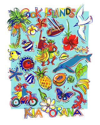 Painting - Kia Orana Cook Islands by Judith Kunzle