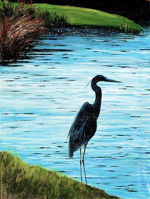 Kiawah Heron Art Print