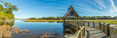 Kiawah Island Boathouse Panoramic Art Print