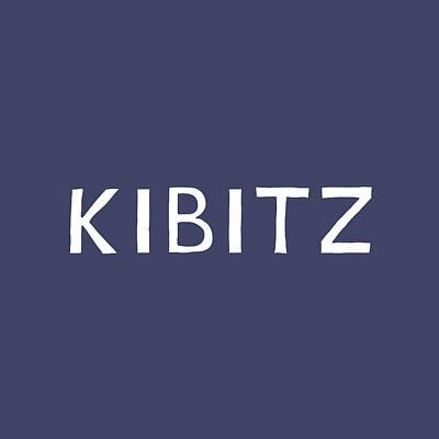 Digital Art - Kibitz In Navy And White- Art By Linda Woods by Linda Woods