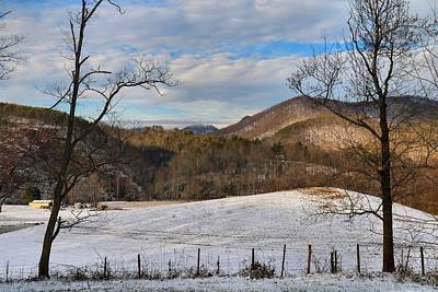 Photograph - Kibler Valley In Winter 1 by Kathryn Meyer