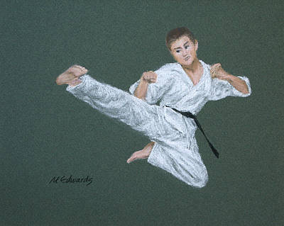 Kick Fighter Art Print by Marna Edwards Flavell