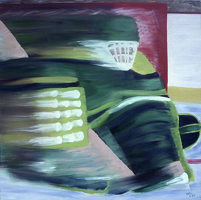 Hockey Art Painting - Kick Save by Ken Yackel