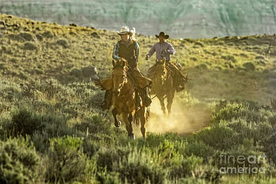 Photograph - Kickin' Up Dust In Wyoming by Kay Brewer