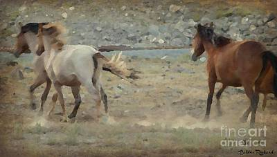 Photograph - Kickin Up Dust Painting by Bobbee Rickard