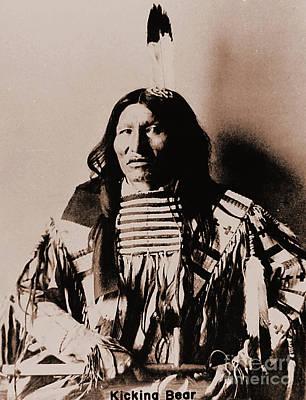 Photograph - Kicking Bear Indian Chief by Gary Wonning