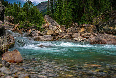 Photograph - Kicking Horse And Yoho River Meet. by Patrick Boening