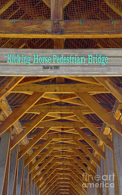 Photograph - Kicking Horse Pedestrian Bridge by Louise Magno