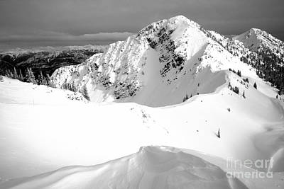 Photograph - Kicking Horse Terminator Peak Black And White by Adam Jewell