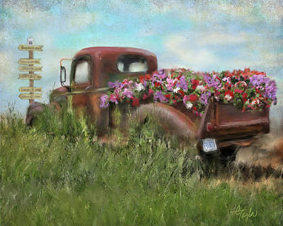 Truck Mixed Media - Kicks On Route 66 by Colleen Taylor