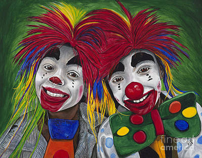 Clown Art Painting - Kid Clowns by Patty Vicknair