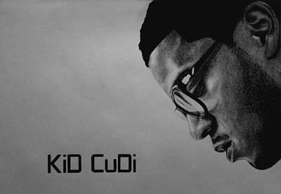 Hop Drawing - Kid Cudi by Carlos Velasquez Art