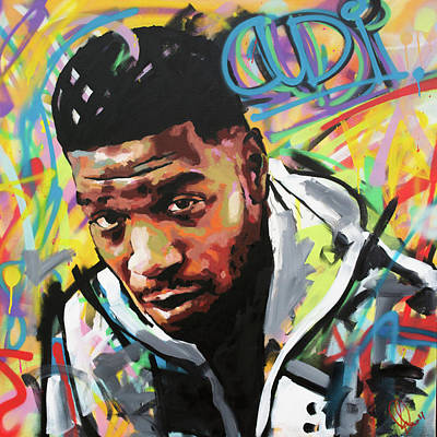 Spray Paint Art Painting - Kid Cudi by Richard Day