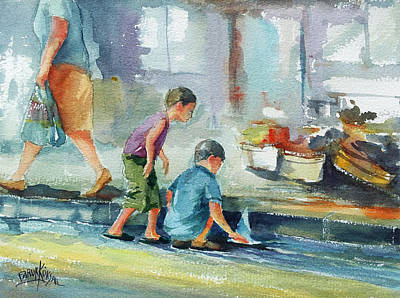 Painting - Kid Games... by Faruk Koksal