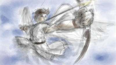 Curve Digital Art - Kid Icarus by Super Lovely