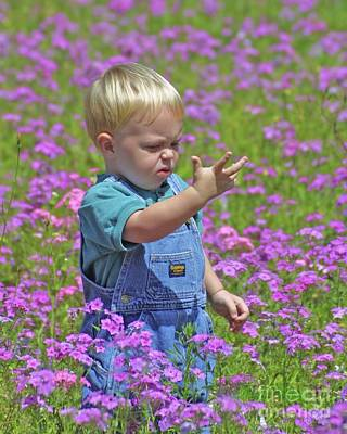 Photograph - Kid In The Meadow by Dodie Ulery