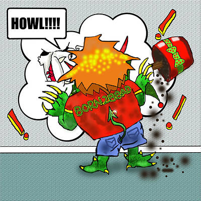 Kid Monsta Xmas 2 Art Print