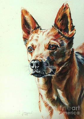 Australian Cattle Dog Painting - Kid by Suzanne Leonard