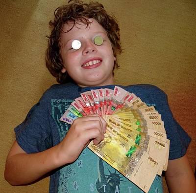 Explorason Photograph - Kid With Money by Exploramum Exploramum