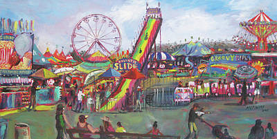 Kiddie Zone Plein Air Art Print by Matthew Pinkey