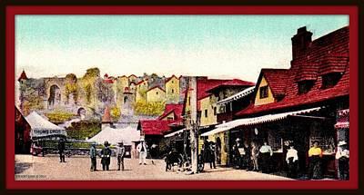 Midget Mixed Media - Midget City, Dreamland, Coney Island, 1910 by Dwight GOSS