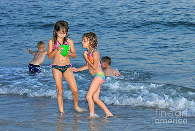 Photograph - Kids At The Beach by Rose  Hill