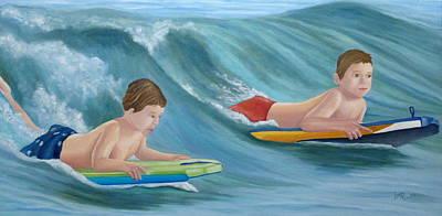 Kids Bodyboarding Original by Angeles M Pomata