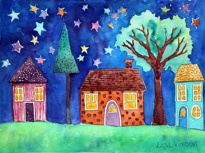 Painting - Candy Stars by Lisa Vincent
