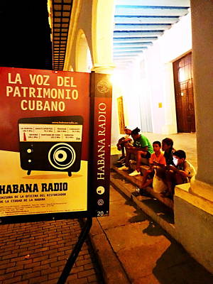 Photograph - Kids On Social Media In Havana Cuba  by Funkpix Photo Hunter