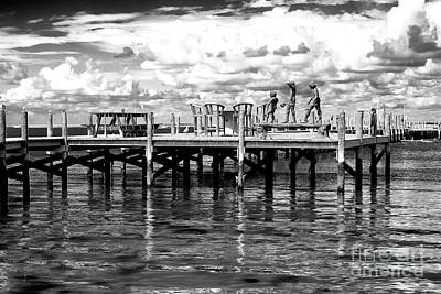 Photograph - Kids On The Dock by John Rizzuto