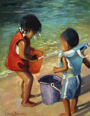 Painting - Kids Play by Lewis Bowman