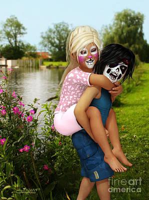 Digital Art - Kids Wanna Have Fun by Jutta Maria Pusl