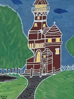 Kiel Germany Lighthouse. Art Print