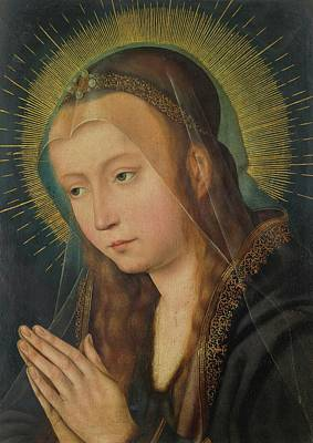 Woman Praying Painting - Kiel Near Antwerp Virgin In Prayer by MotionAge Designs