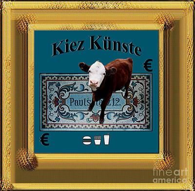 Cowhouse Digital Art - Kiez Kunste by Geordie Gardiner
