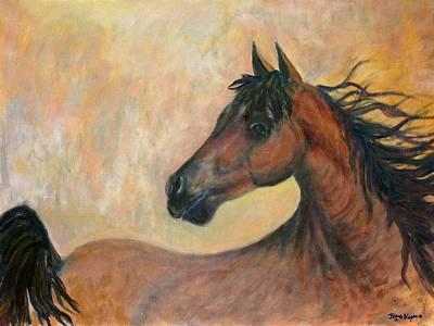Mustang Painting - Kiger Mustang by Ben Kiger