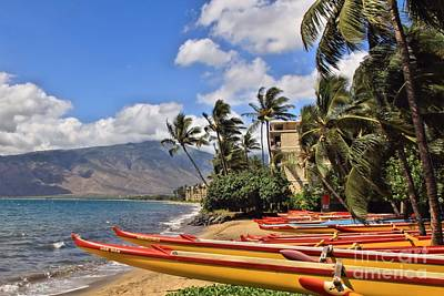 Art Print featuring the photograph Kihei Canoe Maui by DJ Florek