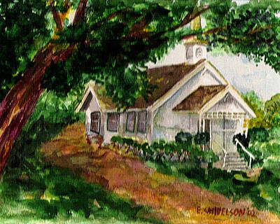 Painting - Kihei Chapel by Eric Samuelson