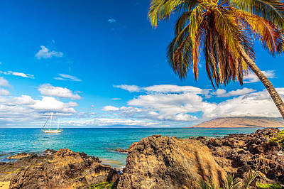 Photograph - Kihei Sailboat 1 by Leigh Anne Meeks