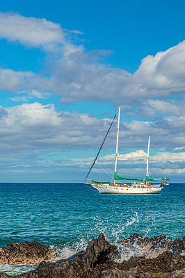 Photograph - Kihei Sailboat 4 by Leigh Anne Meeks
