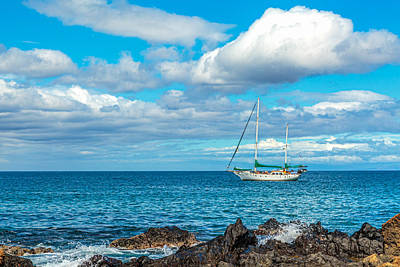 Photograph - Kihei Sailboat 5 by Leigh Anne Meeks
