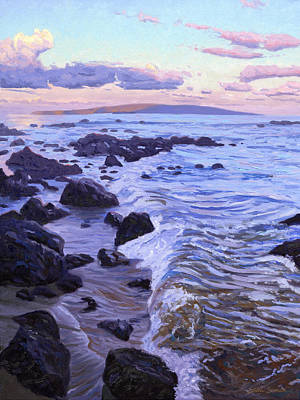 Kihei Sunrise Art Print by Steve Simon