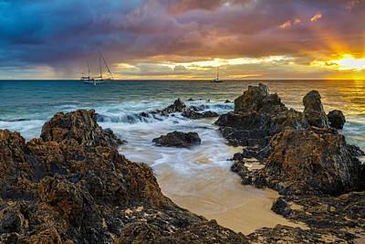 Photograph - Kihei Sunset by Leigh Anne Meeks