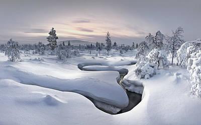 Winter Photograph - Kiilopaa - Lapland by Christian Schweiger