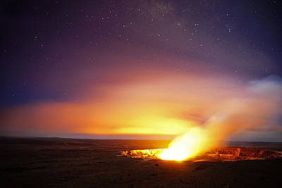 Photograph - Kilauea And Stars by Marcus Donner