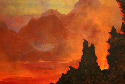 Jules Tavernier Painting - Kilauea Caldera. Sandwich Islands by Jules Tavernier
