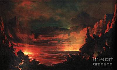 Kilauea Caldera Sandwich Islands Art Print by Pg Reproductions
