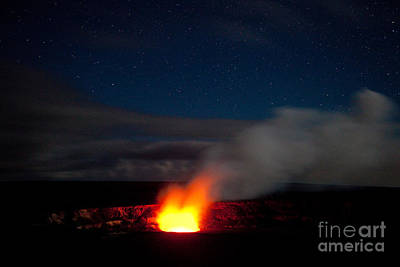 Big Island Photograph - Kilauea Cauldera Under The Stars by Craig Ellenwood