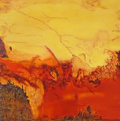 Lava Flow Painting - Kilauea by Cheryl Allin