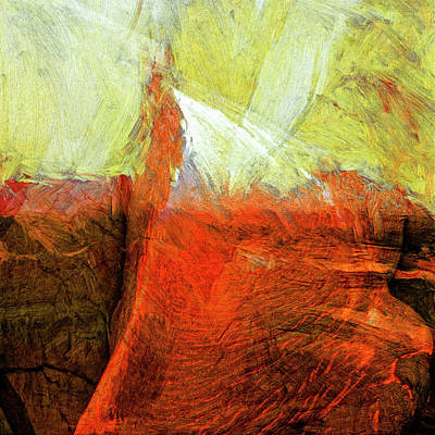 Art Print featuring the painting Kilauea by Dominic Piperata